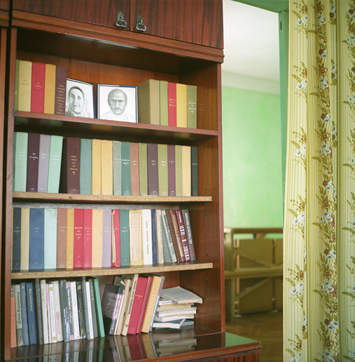 Books at a village home. Аny discussion about the Circassian tragedy was completely banned during Soviet times. Historical knowledge was passed by word of mouth from generation to generation and has now become one of the pillars of the reemerging Circassian identity.
